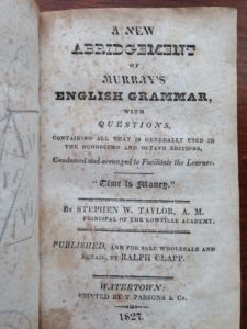 Murrays English title page