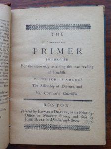 New England Primer 2